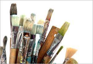 Elena Bondar Oil-on-Canvas paintbrushes