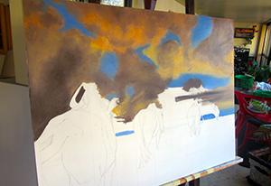 Elena Bondar Oil-on-Canvas what I'm working on now