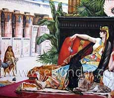Cleopatra Testing Poisons