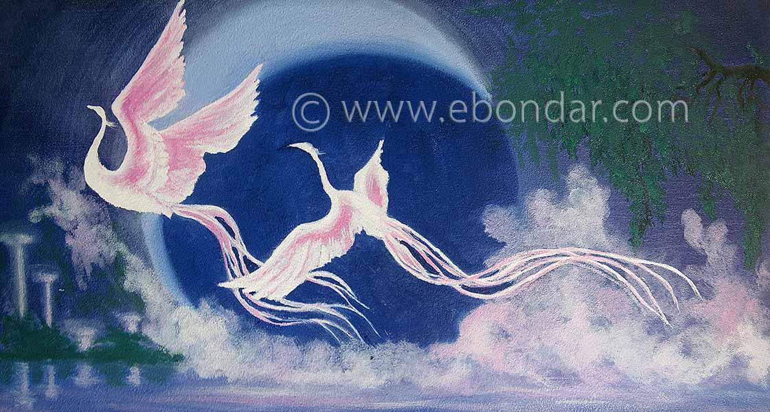 Fantasy Flamingos by Elena Bondar www.ebondar.com